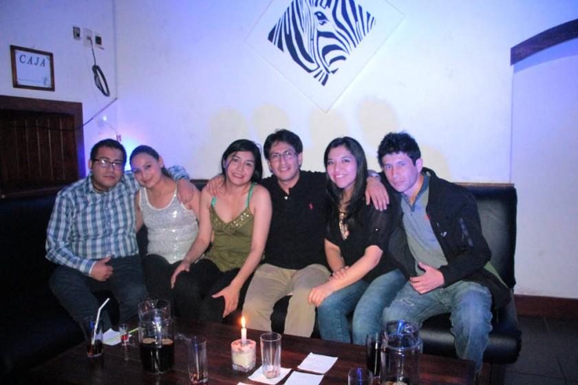 Iván Ampuero, Jaqueline Camargo, Wendy Rodríguez, Diego Vargas, Pamela Quispe y Berkeley Muñoz.