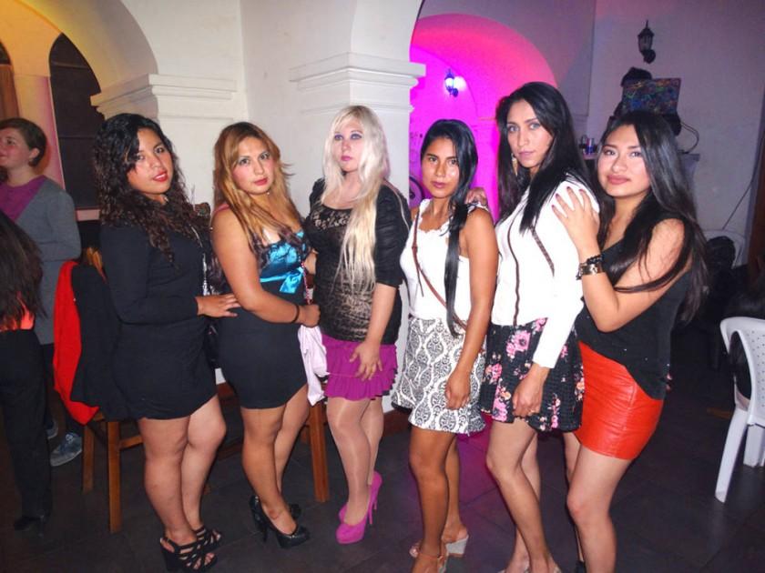 Marianela Pérez, Mabel Quintanilla, Karen Salvatierra, Isabel Torres, Maritza Salazar y Noelia Álvarez.