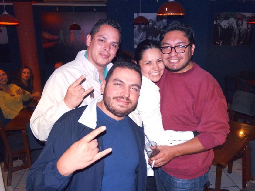 Marco, Walter, Gabriela y Christian.
