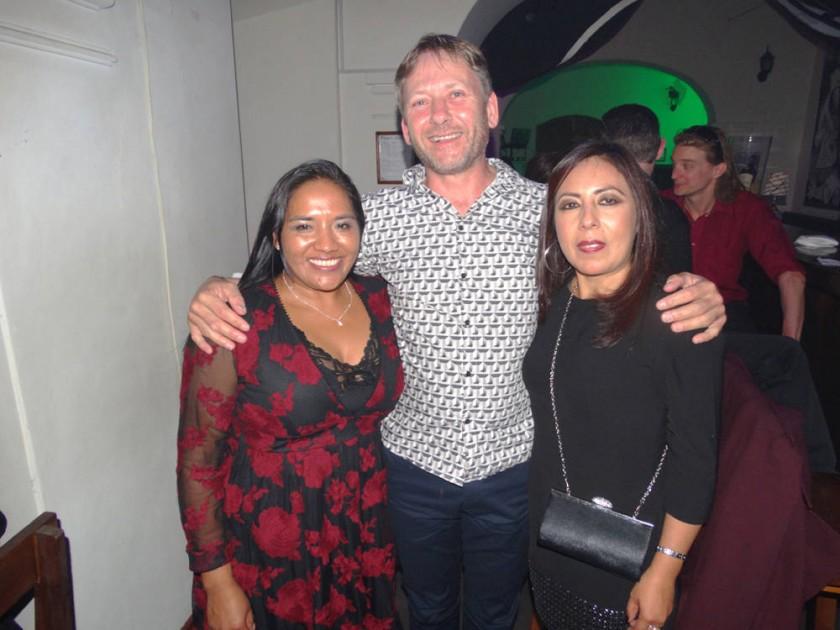 Saida Quispe, Dirk Dekker y Patricia Álvarez.