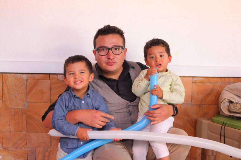 Emiliano, Camilo y Alejandro Barrios.