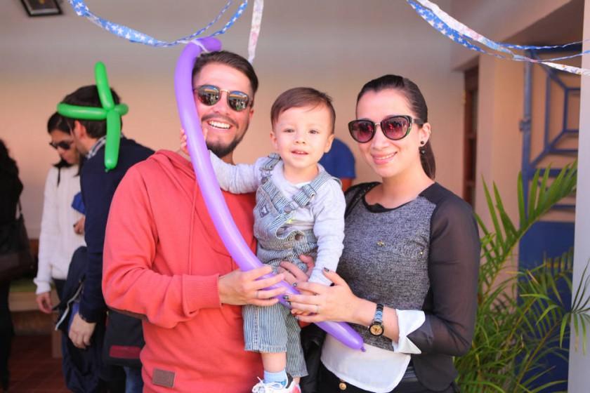 Gonzalo Vega, Emilio Vega y Marcia Vera.