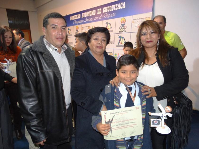 Jorge Delgadillo, Elizabeth Flores, Julia Manjón y José Miguel Delgadillo Manjón.