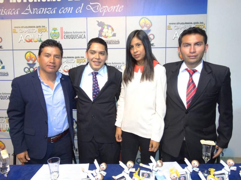 Mario Quinteros, Christian Lahor, Viviana Ramírez  y Hugo Gutiérrez.