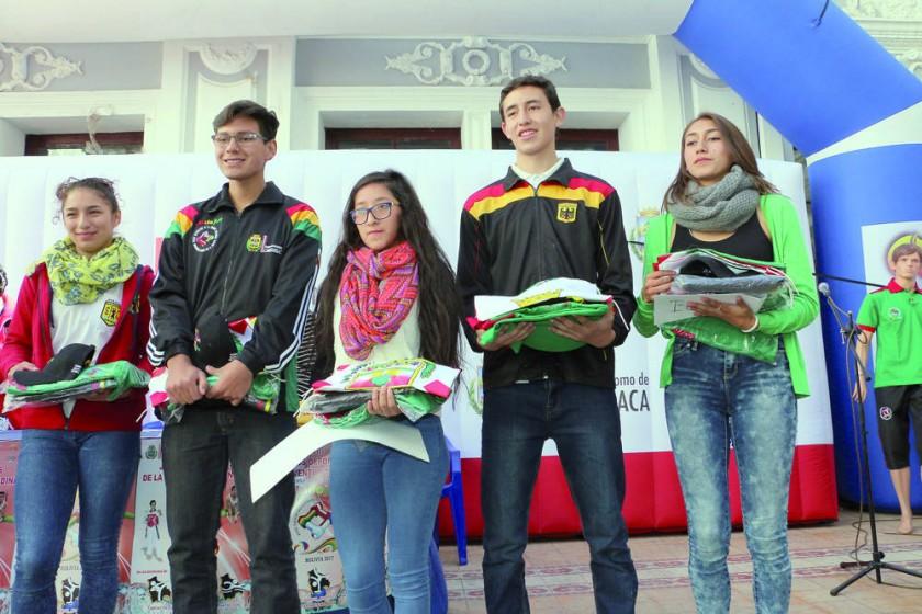 Los deportistas que representarán a Chuquisaca en las nueve disciplinas de los Juegos Deportivos de la Juventud...