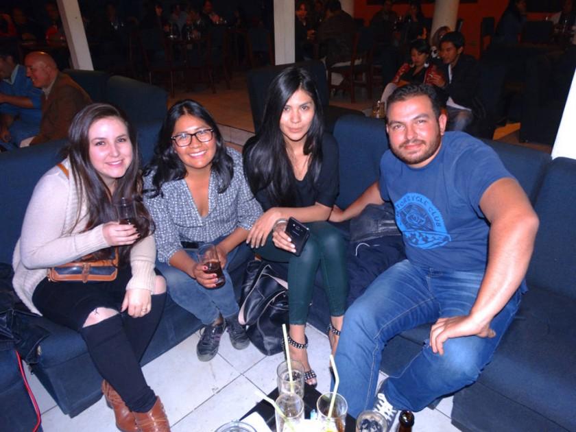 Fátima Núñez, Marlene Apaza, Carolina Ruíz  y Marco Zambrana.