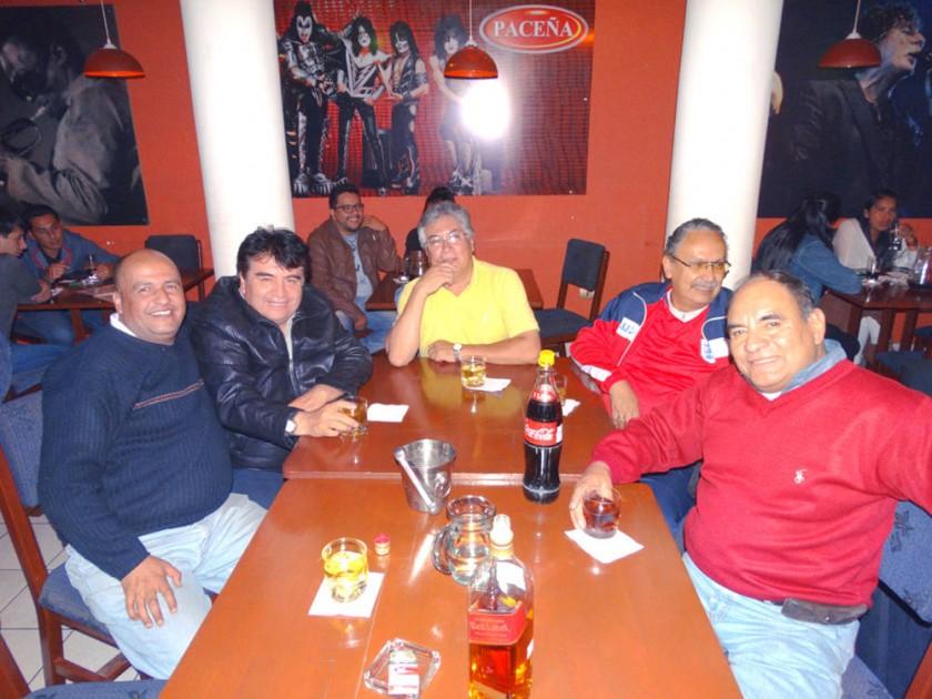 Julio, Jhonny, Carlos, Nano y Beto.