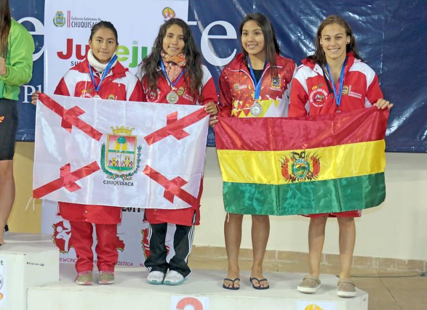 El equipo chuquisaqueño de relevos fue tercero en la rama femenina.