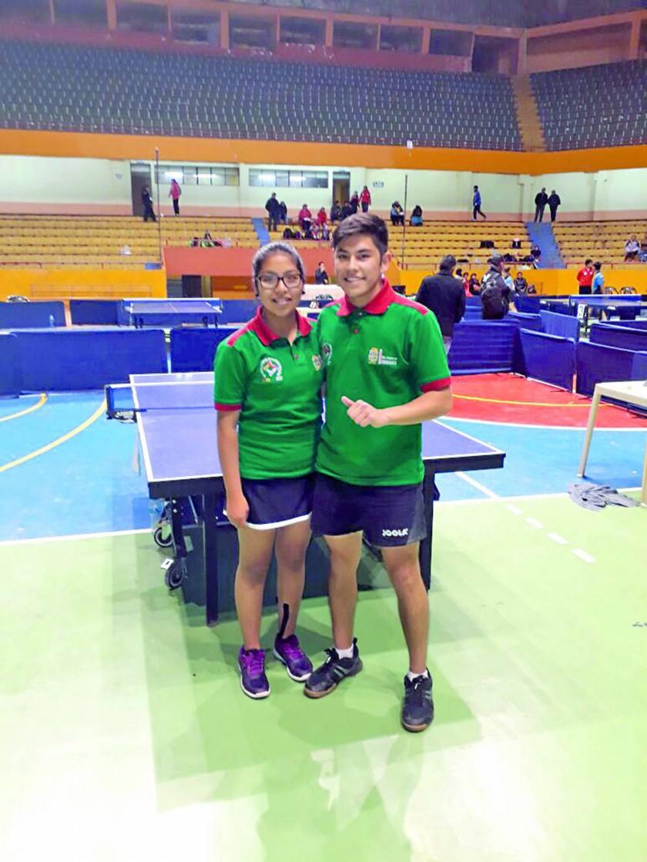 Pamela Miranda y Andrés Balderas lograron el bronce en tenis de mesa.
