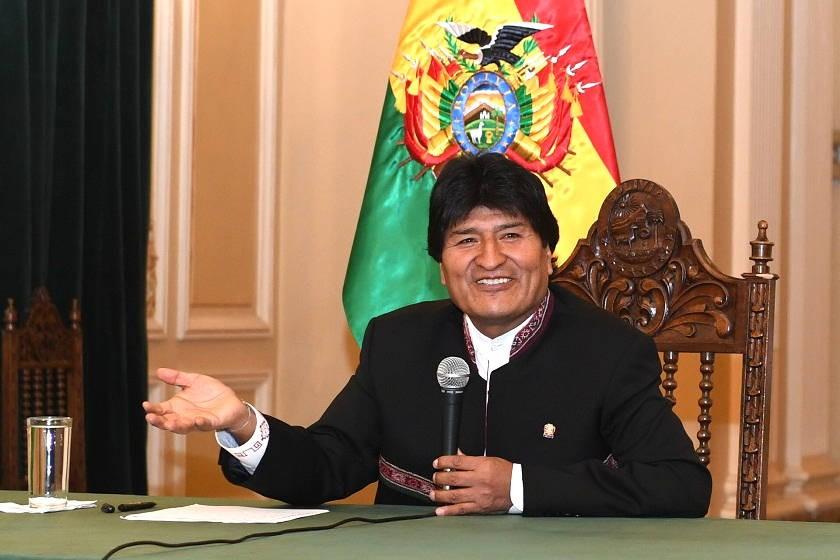 Evo Morales durante la conferencia de prensa de esta mañana. ABI