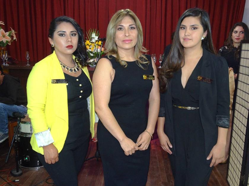 Personal Bellissima Spa: Ana Cecilia Cabrera, Antonieta Villarroel y Lisette Cardozo.
