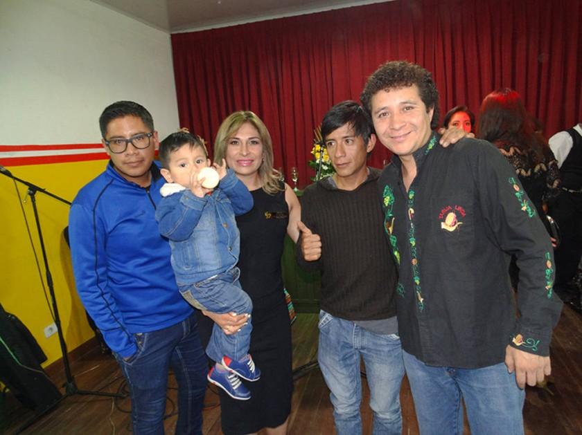 Ariel Ríos, Willy Gantier, Antonieta Villarroel, Luis Orellana y Gonzalo del Carpio.
