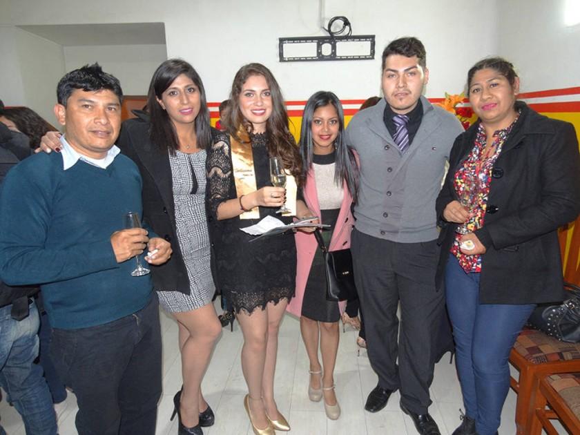 Juan Carlos Bergman, Griselda Villarroel, Guísela Vásquez, Maylin Ortiz y Brian Vásquez.