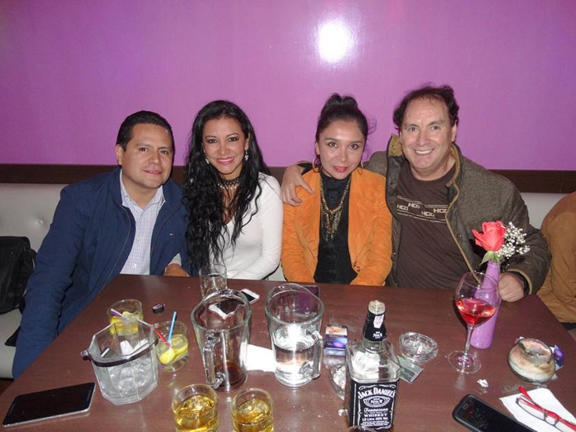 Marcelo Pedrazas, Patricia Salgueiro, Soledad Peñafiel y Dayler Andrade