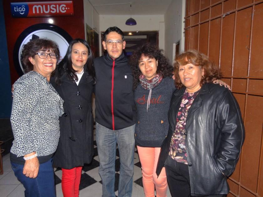 Susana Chumacero de Salgueiro, Silvia de Salias, Dhery Prieto, Zulma de Zárate  y Marlene de Pérez.