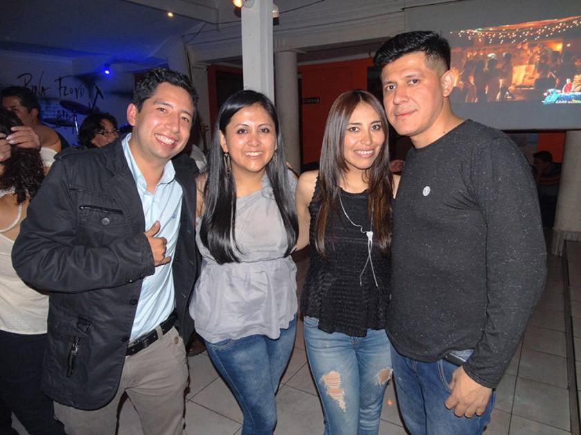 René Torres,  Araceli Collazos,  Cristina Chungara  y Ramiro Castillo.