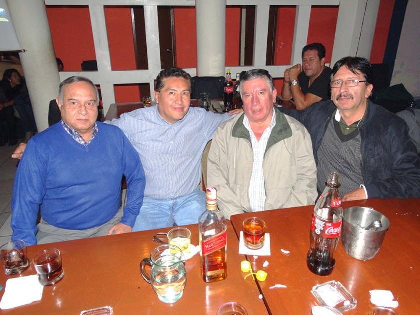 Renato Nava, Marco Miranda, René Mostajo y René Torres.