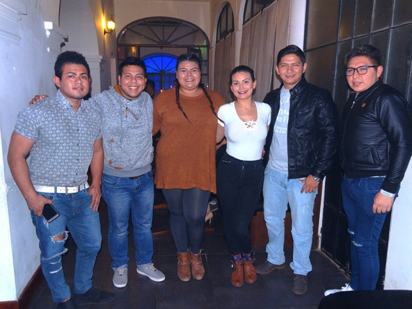 Nicolás, Julio, Bernaliz, Italia, Alexis y Luís.