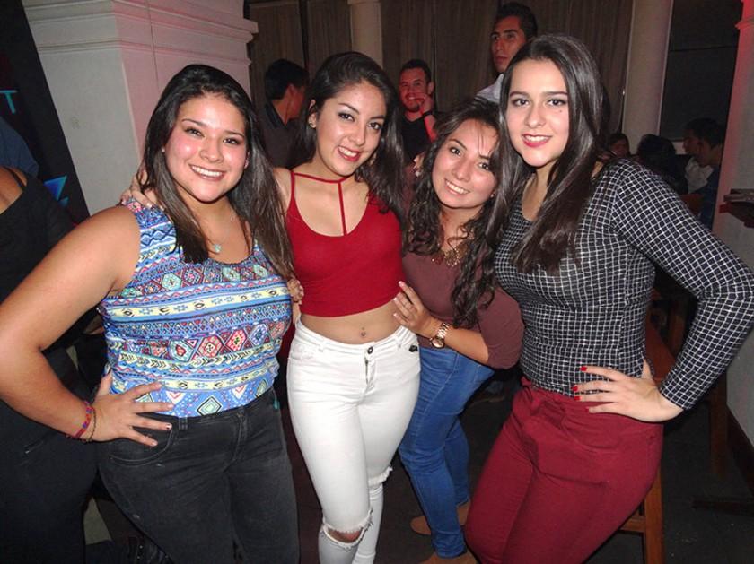 Fátima Ruilowa, Lety Taboada, Camila Sandi e Inés Vaca.