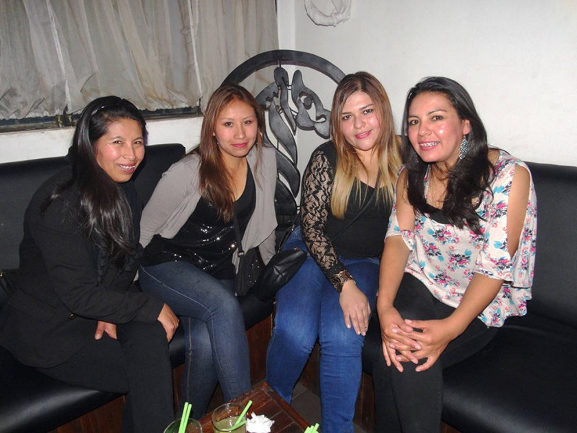 Miriam, Vanesa, Karen y Livia.
