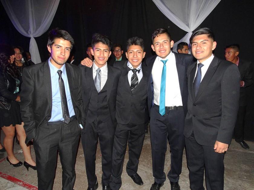 Javier Carvallo, Víctor Vacareza, Joaquín Colque, Fabricio Ferrufino y Ariel Durán.