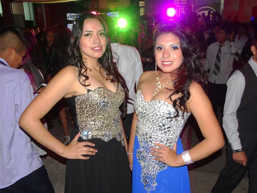 Lizeth Terrazas  y Mariana Romero.