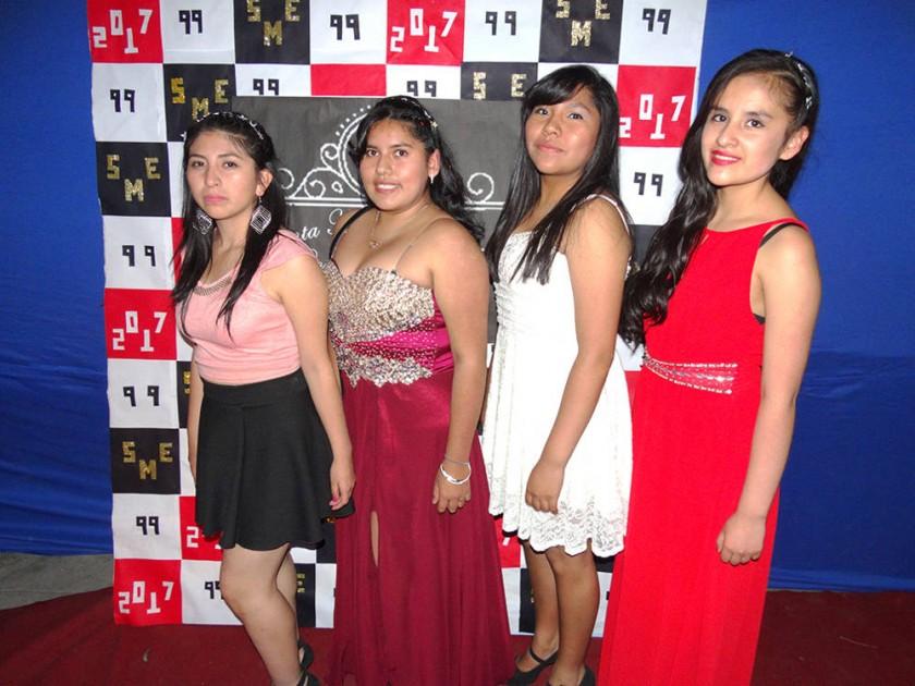 Mayté Alejandro, Geraldine Delgadillo,  Ana Raquel Guaygua y Clau Murillo.