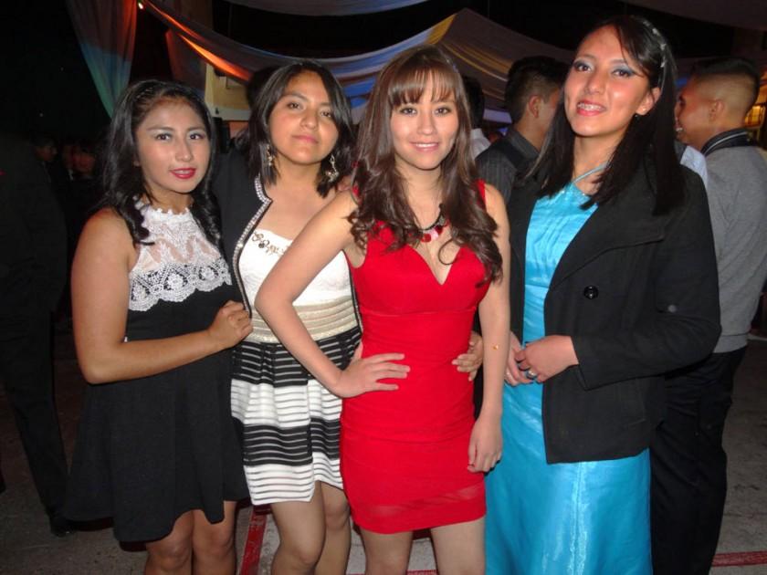 Nataly Crispín, Alejandra Céspedes, Linda Loredo  y Carla Acebey.