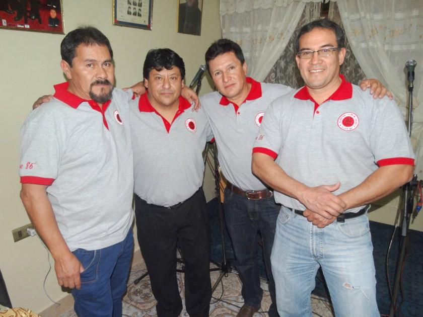Marco Ledesma, Iver Dávila, Roger Velasco  y Gonzalo Arciénega.