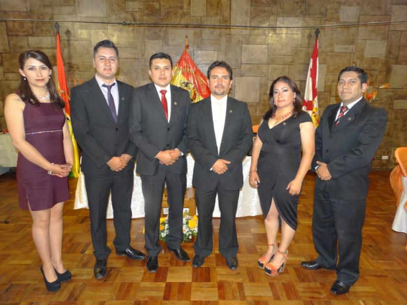 Karina Bejarano, Osmar Padilla, Gustavo Ledesma, Dennis Pérez, Aracely Quintana y Marvin Cuenca.