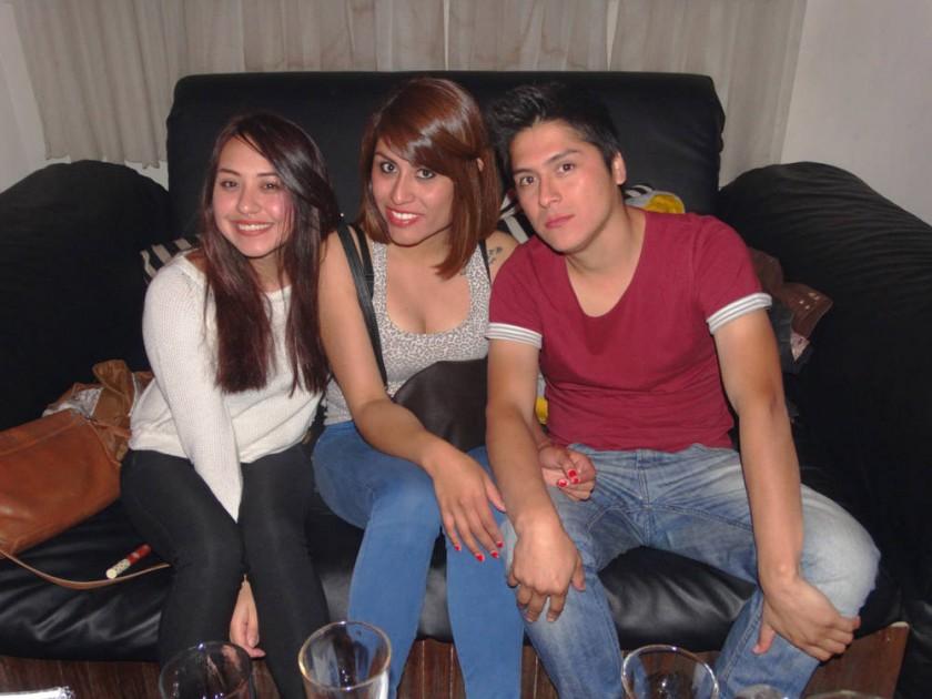 Alejandra Tapia, Alejandra Bayo y Jesús Echalar.