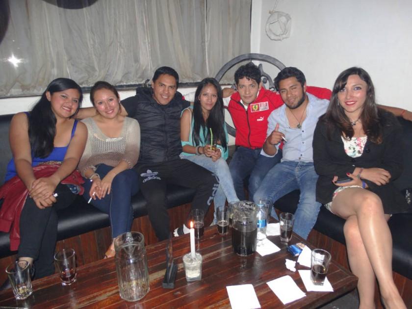 Soledad, Sol, Gonzalo, Gabriela, Mauricio, Brian y Karina.
