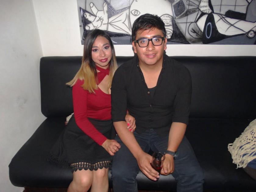 Fabiola Galván y Mario Flores.