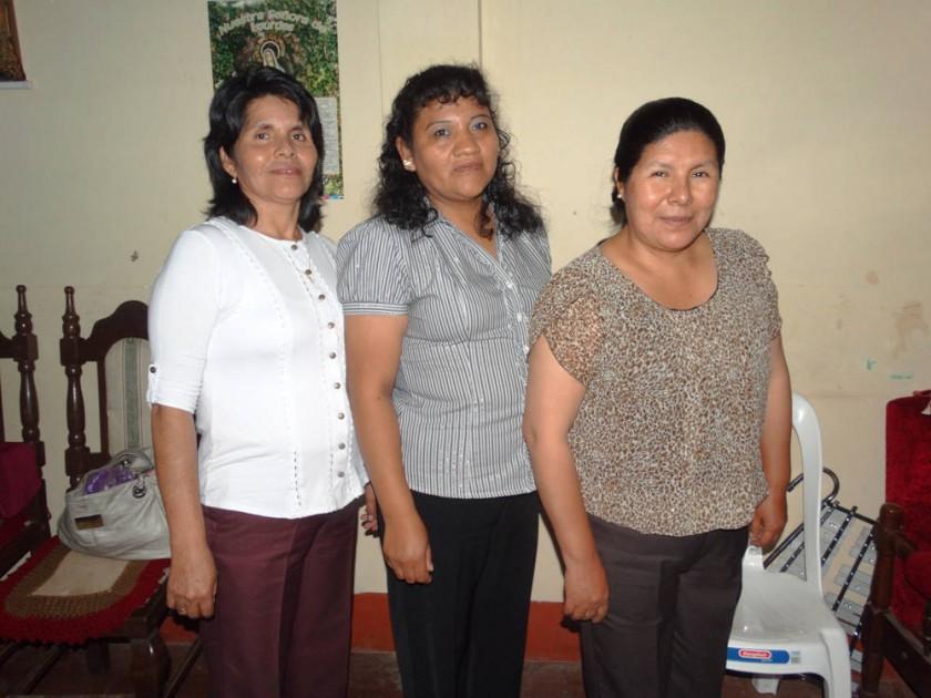 Sebastiana Huarachi, Noemí Choque y Felicidad Peñas.