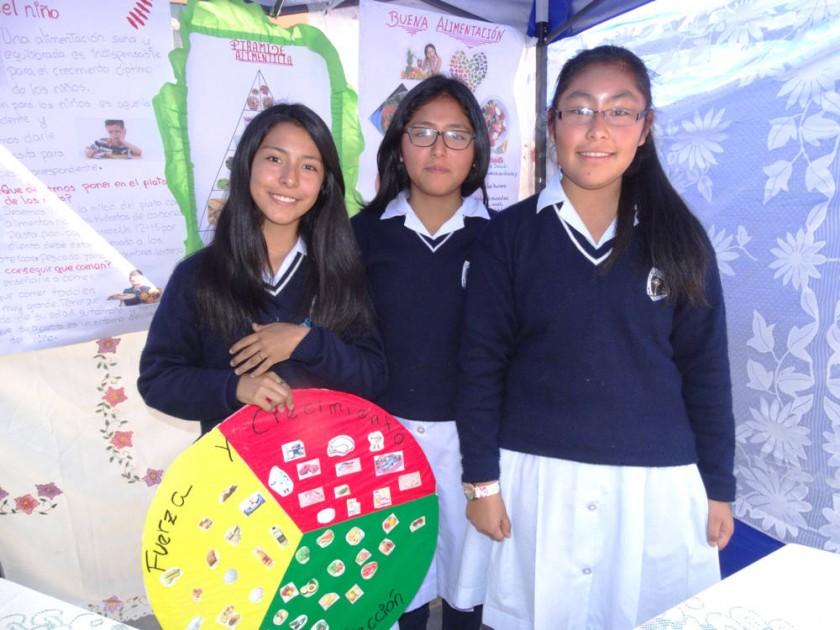 Brissa Padilla, Maya Fernández y Melina Saavedra,  La buena alimentación.