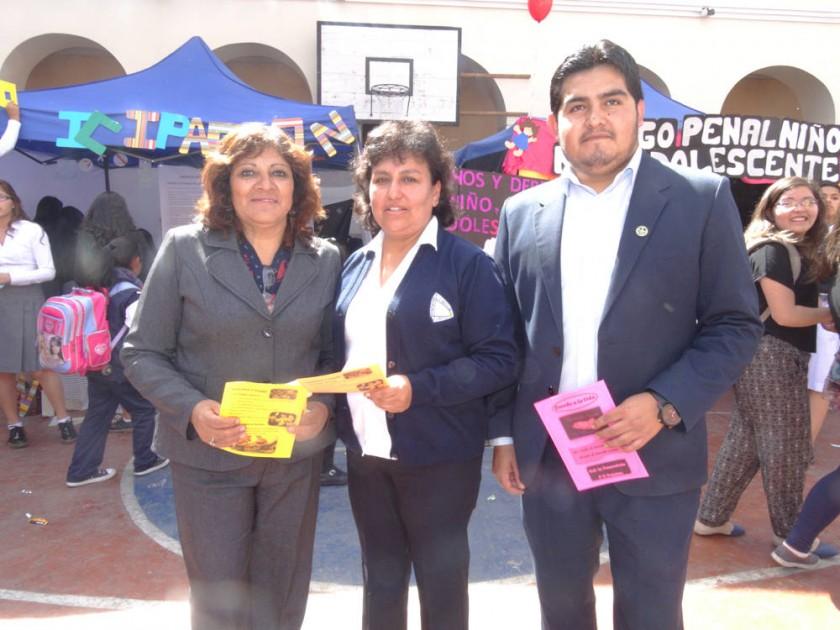Organizadores: Evelin Colque, Marcela Arancibia y Franklin Barrientos.