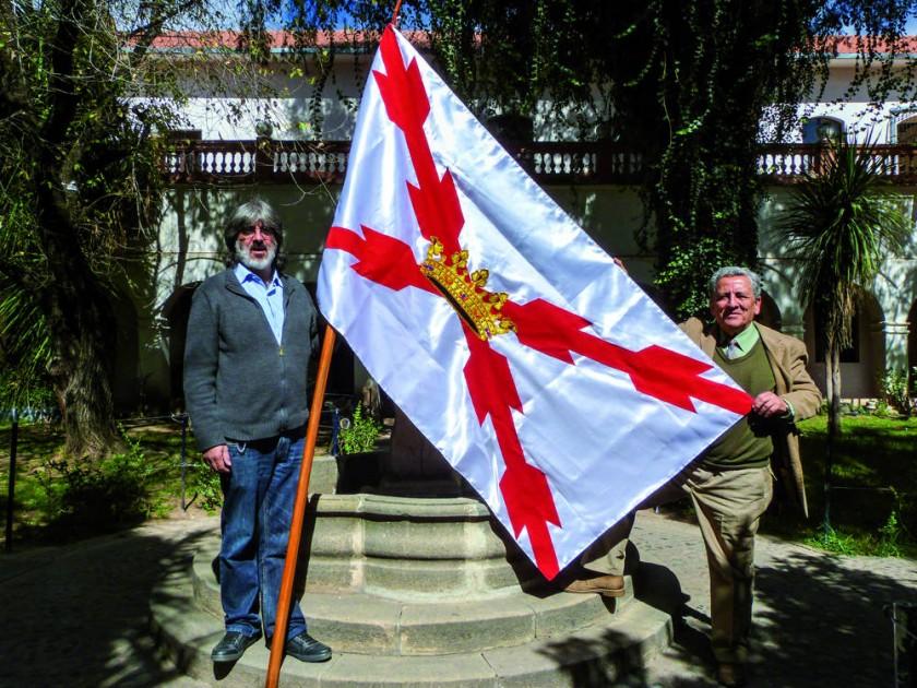 Bernardo Gantier y Ronald Gantier, delegados de la Sociedad Geográfica y de Historia Sucre, piden respeto a la...