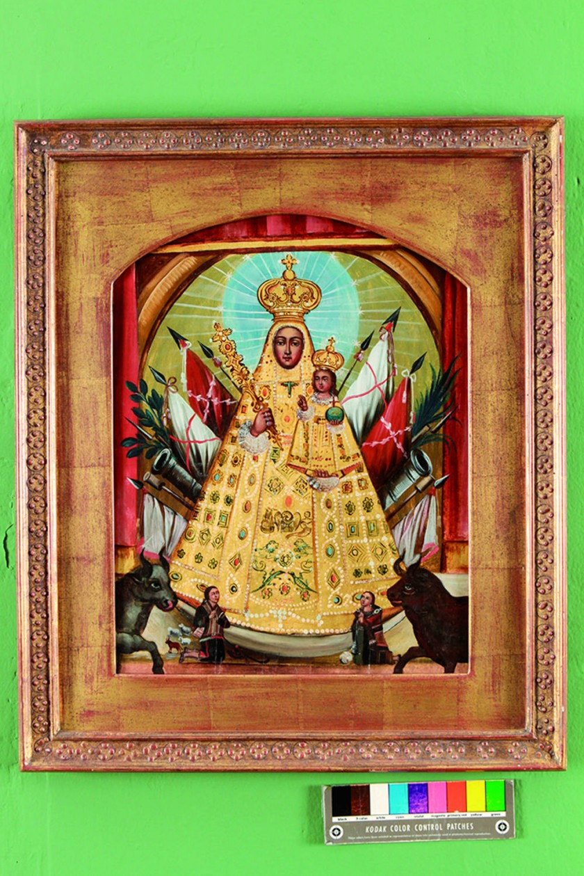 La Virgen de Guadalupe y la bandera de Chuquisaca