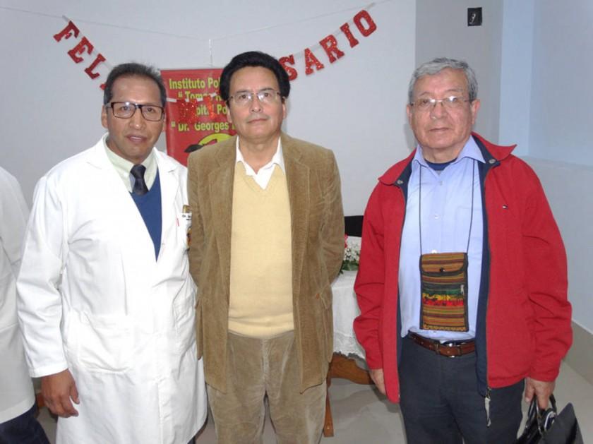 Raúl Martínez, Grover Linares  y Franz Barrios Villegas.