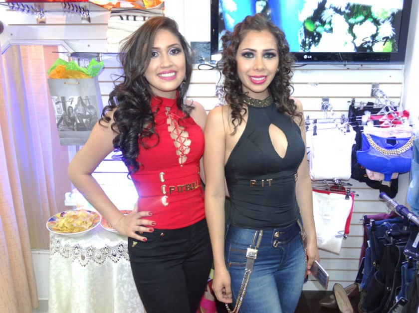 Dunia Vásquez y Jessica Guerrero,  boutique Seven Jean.
