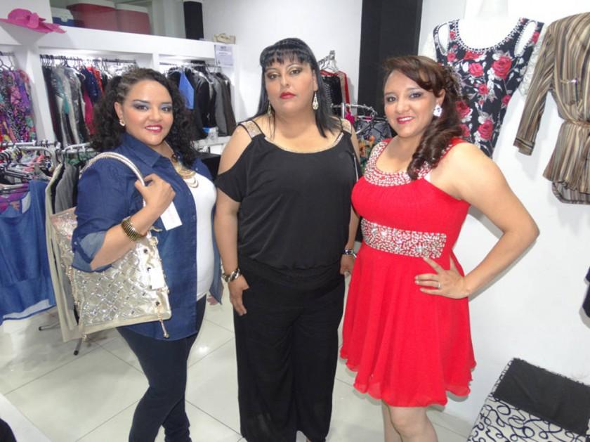 Andreina Amusquivar, Paola Michel y Natalia Amusquivar, Boutique Grandiosa.
