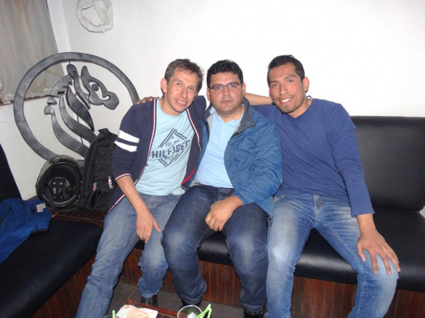 Augusto, Juan Pablo y Jesús.