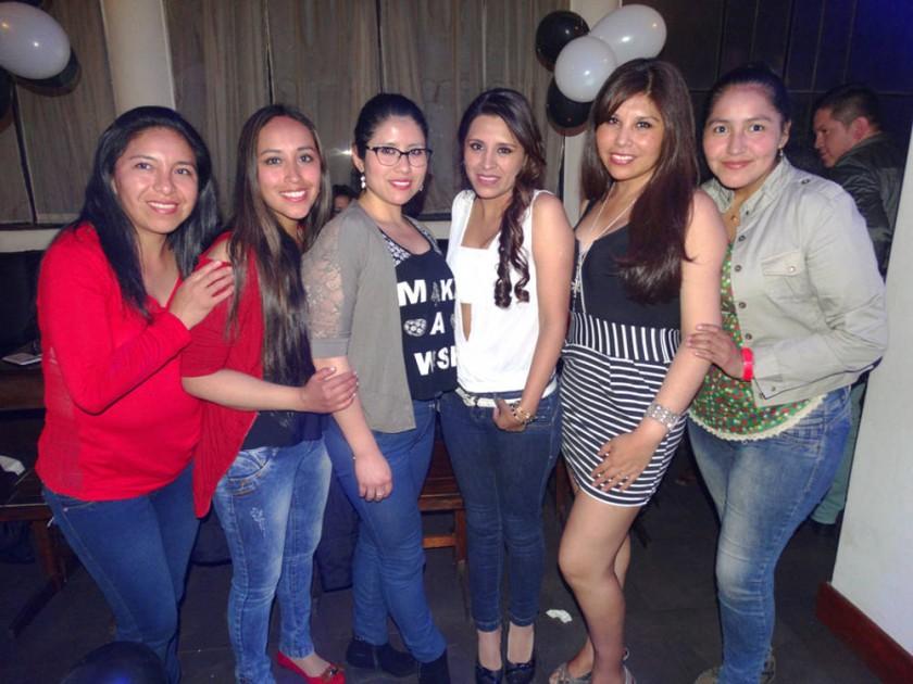 Janeth, Patricia, Laura, Aleida Silvia y Zulema.