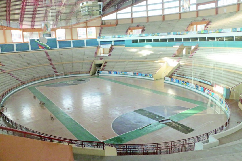El coliseo Polideportivo de la zona de Garcilazo.