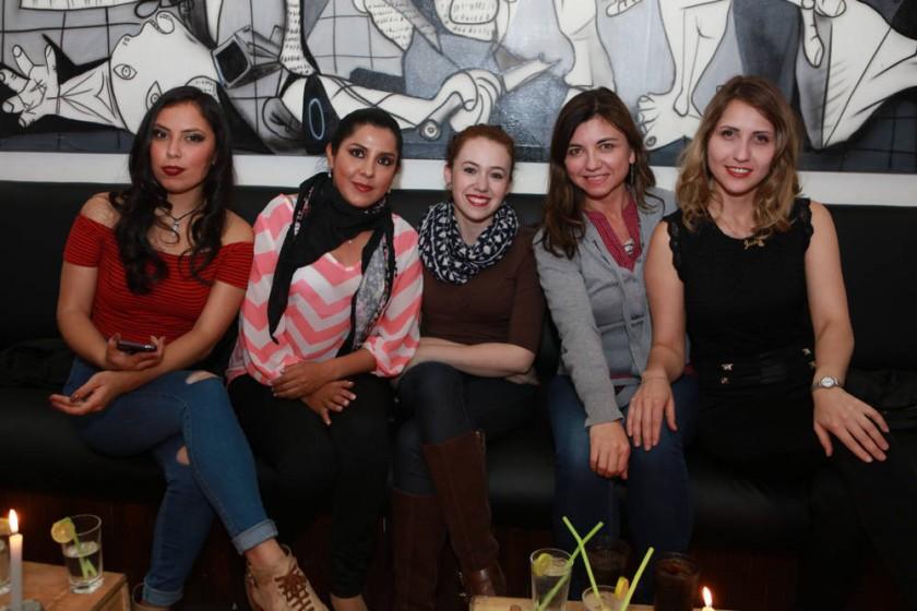 Fernanda Petersen, Corina Morales, Bernarda García,  Patricia Orellana y Jessica Orellana.