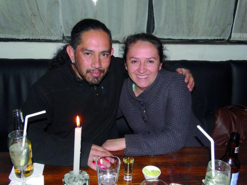 David Chávez y Mónica Caballero.