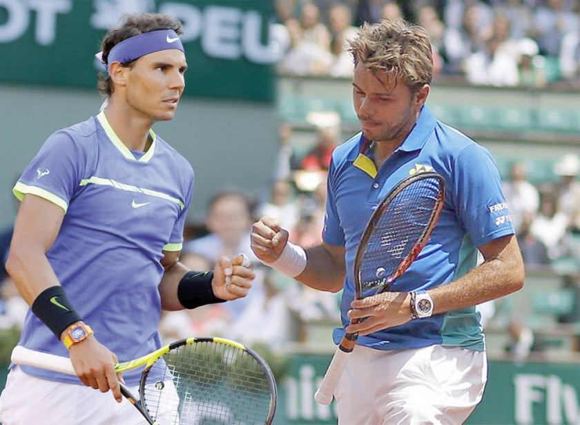 Nadal, con su rendimiento en ascenso, jugará con Wawrinka, que tiene buenos antecedentes en grandes finales.