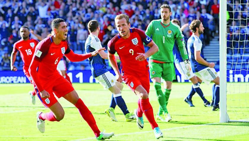 Inglaterra rescató un punto sobre el final ante Escocia.