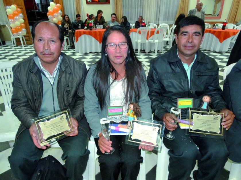 Rilber García, Marcelina Claure y Abel Pedrazas.