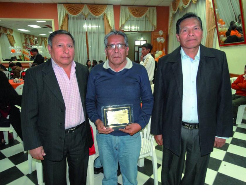 Ramón Laime, Manuel Portuguez y Floridor Huanca.